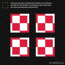 "(4x) 1.5"" Polish Air Force Roundel Sticker Die Cut Decal Poland POL PL"