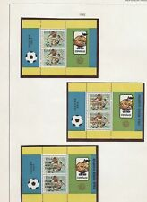 INDONESIA POSTFRIS W.K. VOETBAL 1982 BLOKKEN MET OPDRUK ITALIA WORLD CHAMPION