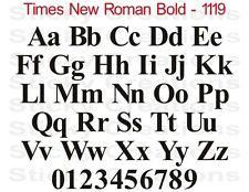 #1119 CUSTOM WINDSHIELD DECAL Vinyl Lettering Name Sticker Times New Roman Bold