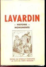 LAVARDIN - Histoire Monuments - Syndicat d'Initiative - Loir-et-Cher