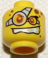 LEGO NEW MINIFIGURE DUAL HEAD GLASSES RED SPOTS EVIL SMILE MINIFIG FACE