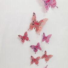 HOT 12X 3D Butterfly Magnet Sticker Art Design Decal Wall Stickers Home Decor