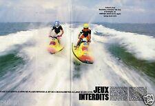 Coupure de Presse Clipping 1989 (4 pages) Jet Ski Jeux Interdits