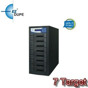EZ Dupe 1 to 7 Hard Drive SSD Duplicator & Eraser - SATA HDD Cloner 300mbps