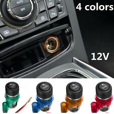 12V 4 Colors / Set Waterproof Car Motorcycle Cigarette Lighter Power Socket Plug