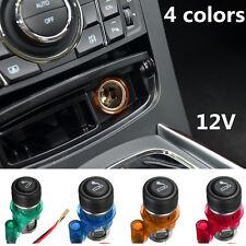 12V 4 Colors / Set Waterproof Car Motorcycle Cigarette Lighter Power Socket Plug