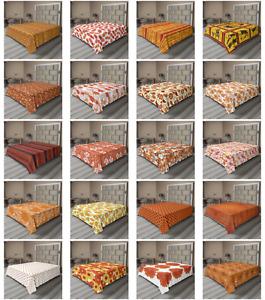 Ambesonne Orange Tones Flat Sheet Top Sheet Decorative Bedding 6 Sizes