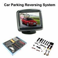 Car 3.5'' HD Monitor Front and Rear View Camera 6 Sensor Reversing Radar Kit &