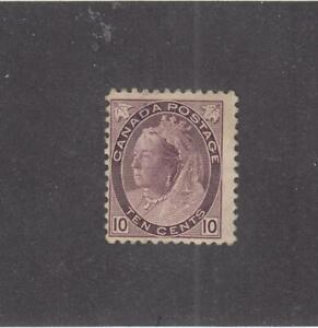 CANADA (MK3904) # 83  F-MH  10cts  VICTORIA NUMERAL / BROWN-VIOLET  CAT VAL $200