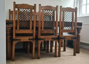 Jali indian rosewood dining table and 6 seats