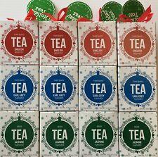 Holiday Teas English Breakfast, Earl Grey, Jasmine Tea Tower Gift 4 Set 144 Bags