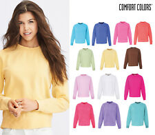 Comfort Colors Women's Crew Neck Sweatshirt (1596) - Long Sleeve Sweatshirt
