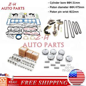 3.0T Engine Rebuilding Set Piston & Ring Fit For VW Touareg AUDI A4 Q5 CMUA CAJA