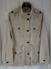M&S Pure Cotton Stone Colour Size 14 Military Jacket - BNWT, Was £45