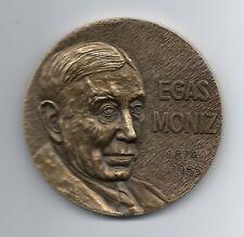 Nobel Prize Medicine in 1949 / Egas Moniz 1874 - 1955 / Bronze Medal / M35