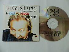 CD SINGLE Promo HENRI DES Ange ou demon  Les loups PMJ002