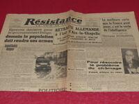 """[PRESSE WW2 39-45] """"RESISTANCE - La Voix de Paris"""" # 94 / 18 NOVEMBRE 1944"""