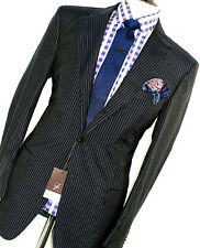 BNWT LUXURY MENS ERMENEGILDO ZEGNA ITALIAN TAILORED NAVY PINSTRIPE SUIT 42R W36
