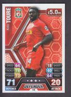 Match Attax 2013/14 - # 148 Kolo Toure - Liverpool - Variation / Error Card