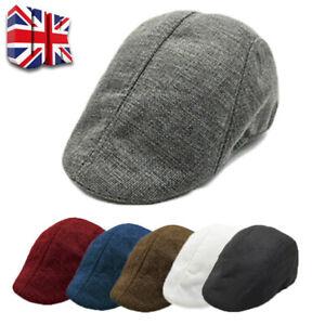 Mens Boys Hat Country Peaky Golf Driving Cabbie Hat Caps Retro Flat Cap Beret A