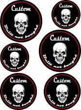 BUILT NOT BOUGHT CUSTOM STICKER SET Skull car hot rod motorbike cafe racer decal