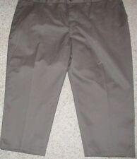 New W/Tags Men's Dickies Big & Tall Size 50X32 Brown No Pleat Cotton Blend Pants
