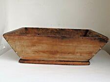 Antique 19th c. Pine Apple Box Large Size Slant Sides