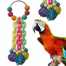 Pet Swing Bird Toy Parrot Cage Hanging Chewing Toys Parakeet Cockatiel Budgie