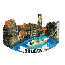 Belgium Bruges Fridge Magnet Vintage Architectural Pattern Refrigerator Sticker