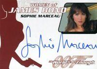 James Bond The Quotable James Bond Sophie Marceau Autograph Card WA16
