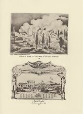 """1976 Vintage CALIFORNIA /""""LOSS OF GOLDEN GATE BY FIRE/"""" Lithograph 100 STEAMBOAT"""
