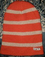 24a0f3af Neff Women's Daily Sparkle Beanie Striped Coral Acrylic Knit NWT