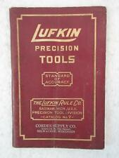 Vintage LUFKIN PRECISION TOOLS Catalog No. 7 Lufkin Rule Co., Saginaw, MI