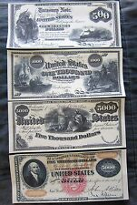 1864 $500 1863 $1000 $5000 Interest Notes 1870 $5000 Gold Certificate Reprints