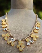 Kate Spade secret garden necklace earrings & set champagne blush crystal pave