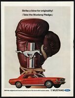 1967 Ford MUSTANG Red Classic Car Photo AD
