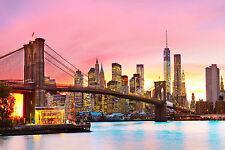 Impresionante ciudad de Nueva York Lienzo #495 Nueva York Colgante De Pared Imagen Arte A1