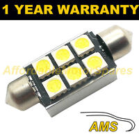 1X RED CANBUS NUMBER PLATE INTERIOR SMD LED BULB 30 36 39 42 44MM FESTOON OC
