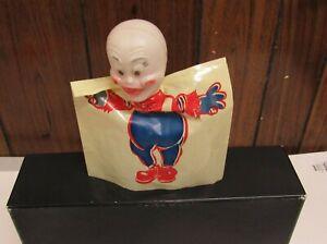 Vintage Halloween Horror Monsters Casper Ghost Plastic Blow Mold Hand Puppet