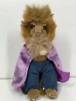 "Disney Vintage Beauty & The Beast 8"" Soft Toy Beanie RARE Purple Cape Variant"
