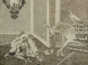 Original - vintage etching - Slovak graphic art