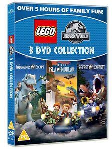 LEGO JURASSIC WORLD Three Film Collection 1 2 3 Boxset (region 4) DVD