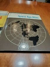 1959 Space Age Atlas by Rand McNally - with attached Maps
