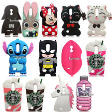 For LG K4 K8 2017 3D Cases, Cute Cartoon Soft Silicone Rubber Phone Covers Skins