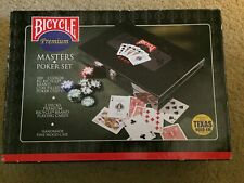 Bicycle Premium Masters 8-Gram Clay Composite Poker Chips Black Lacquer Box NEW