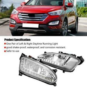 Car DRL Daytime Running Light Fog Lamp Cover for Hyundai Santa Fe IX45 2013-2015