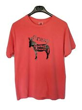 Womens crazy donkey momma tee shirt, donkey lover tee salmon comfort colors med