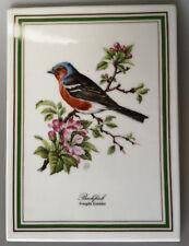 Königl. pr. Tettau Atelier Singvogel Porzellan Wandbild Buchfink Vogel