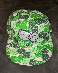 GREEN PLAYING DICE New Era Fitted Hat Cap 7 1/4 59 FIFTY NEW Mint Flat Bill