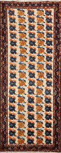 Semi Antique Gabbeh Kashkoli Hand-knotted Runner Rug Hallway Oriental Wool 3x9